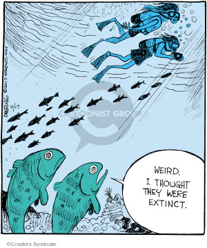 Comic Strip John Deering  Strange Brew 2017-04-17 diver
