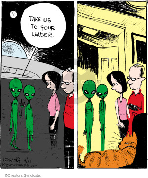 Comic Strip John Deering  Strange Brew 2017-04-21 alien