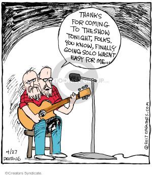 Cartoonist John Deering  Strange Brew 2017-04-27 tonight