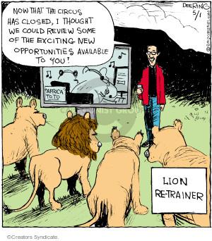 Comic Strip John Deering  Strange Brew 2017-05-01 lion