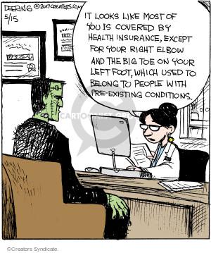 Comic Strip John Deering  Strange Brew 2017-05-15 foot care