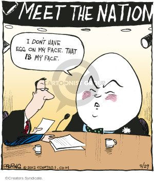 Meet the Nation. I dont have egg on my face. That IS my face.
