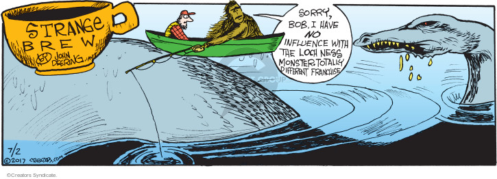 Comic Strip John Deering  Strange Brew 2017-07-02 monster