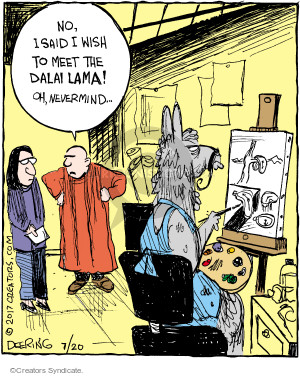 Comic Strip John Deering  Strange Brew 2017-07-20 painting