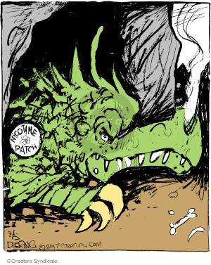 Cartoonist John Deering  Strange Brew 2017-08-05 cigarette