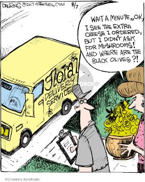 Comic Strip John Deering  Strange Brew 2017-08-07 flower bouquet