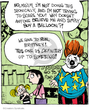 Comic Strip John Deering  Strange Brew 2017-08-08 clown