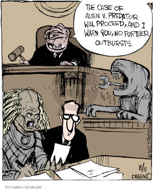 Cartoonist John Deering  Strange Brew 2017-08-11 law