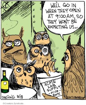 Cartoonist John Deering  Strange Brew 2017-08-18 supply