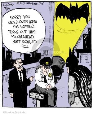 Cartoonist John Deering  Strange Brew 2017-09-14 guard