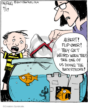 Comic Strip John Deering  Strange Brew 2017-09-19 fish
