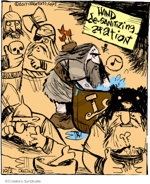 Cartoonist John Deering  Strange Brew 2017-10-02 hand