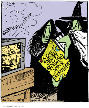 Cartoonist John Deering  Strange Brew 2017-10-31 magic