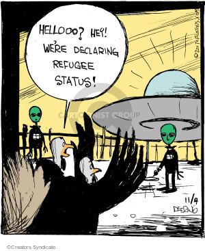 Comic Strip John Deering  Strange Brew 2017-11-04 declaration