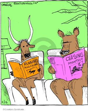 Comic Strip John Deering  Strange Brew 2017-11-13 chase