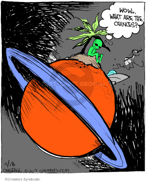Comic Strip John Deering  Strange Brew 2017-11-18 alien