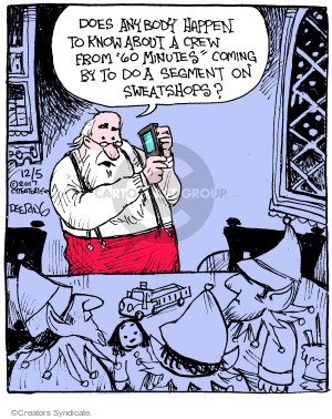 Cartoonist John Deering  Strange Brew 2017-12-05 Santa Claus