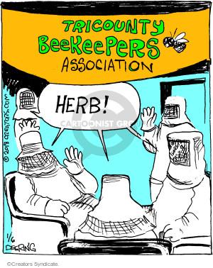 Comic Strip John Deering  Strange Brew 2018-01-06 apiary