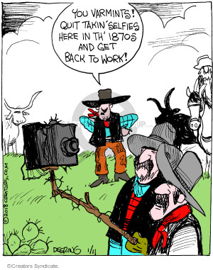 Cartoonist John Deering  Strange Brew 2018-01-11 old west