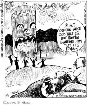 Comic Strip John Deering  Strange Brew 2007-08-03 God