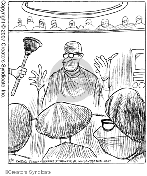 Comic Strip John Deering  Strange Brew 2007-08-09 health care