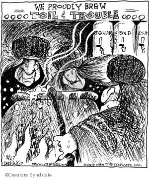 Comic Strip John Deering  Strange Brew 2007-08-27 shop