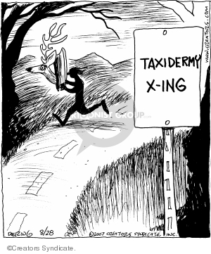 Comic Strip John Deering  Strange Brew 2007-08-28 road