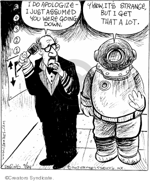 Comic Strip John Deering  Strange Brew 2007-09-24 diver