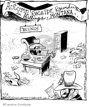 Cartoonist John Deering  Strange Brew 2007-10-13 old west
