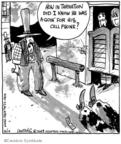 Cartoonist John Deering  Strange Brew 2009-05-19 gun