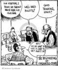 Cartoonist John Deering  Strange Brew 2009-11-27 gun