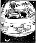 Cartoonist John Deering  Strange Brew 2010-05-05 gun