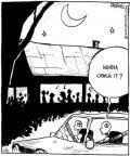 Cartoonist John Deering  Strange Brew 2010-11-02 crash