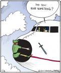 Cartoonist John Deering  Strange Brew 2011-01-18 pilot