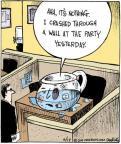 Cartoonist John Deering  Strange Brew 2011-06-17 crash