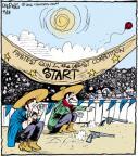 Cartoonist John Deering  Strange Brew 2012-04-18 gun