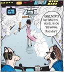 Cartoonist John Deering  Strange Brew 2012-06-05 airplane