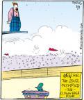Cartoonist John Deering  Strange Brew 2012-08-09 athlete