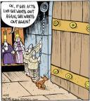 Cartoonist John Deering  Strange Brew 2012-10-29 outdoor cat