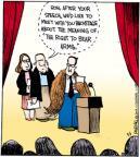 Cartoonist John Deering  Strange Brew 2012-11-01 gun