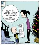 Cartoonist John Deering  Strange Brew 2012-11-27 holiday shopping