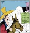 Cartoonist John Deering  Strange Brew 2013-04-05 gun