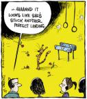 Cartoonist John Deering  Strange Brew 2013-07-19 gymnastic