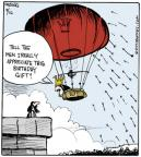 Cartoonist John Deering  Strange Brew 2013-09-16 hot air balloon