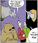 Cartoonist John Deering  Strange Brew 2013-10-29 extinct animal