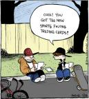 Cartoonist John Deering  Strange Brew 2014-01-28 baseball card collection