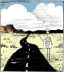 Cartoonist John Deering  Strange Brew 2014-02-07 crash