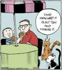 Cartoonist John Deering  Strange Brew 2014-06-23 cat behavior