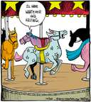 Comic Strip John Deering  Strange Brew 2014-10-20 horse