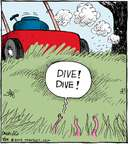 Comic Strip John Deering  Strange Brew 2015-07-29 dive